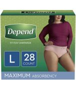 Depend Fit-Flex for Women, Maximum  Adult Incontinence Pullup Diaper