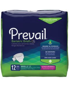 Prevail Bariatric 3XL Adult Diaper Brief for Incontinence - Size: XXX-Large