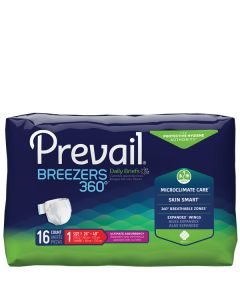 Prevail Breezers 360 Daily Adult Incontinence Diaper