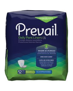 Prevail Pant Liners SM Adult Incontinence Bladder Control Pad - 13.5 Inch