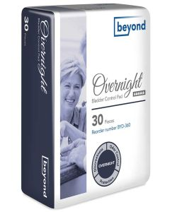 Beyond Overnight Adult Incontinence Bladder Control Pad - 13.25 Inch