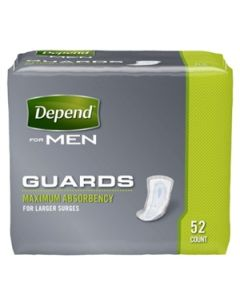 Depend Guards for Men - 12 Inch Pad