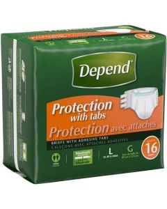Depend Maximum Protection Adult Diaper Brief for Incontinence