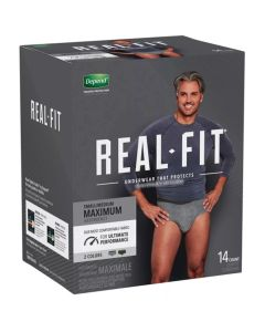 Depend Real Fit for Men Adult Incontinence Pullup Diaper