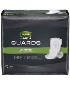 Depend Guards for Men Adult Incontinence Bladder Control Pad - 12 Inch