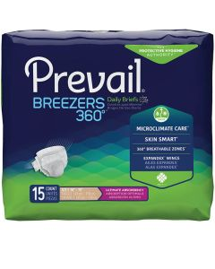 Prevail Breezers 360 Daily Adult Diaper Brief for Incontinence