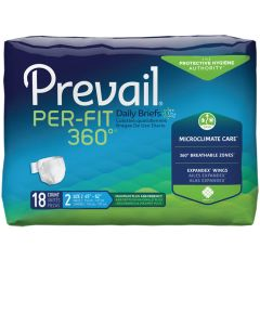 Prevail Per-Fit 360 Daily Adult Diaper Brief for Incontinence
