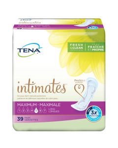 TENA Intimates Maximum Long Adult Incontinence Bladder Control Pad - 15 Inch