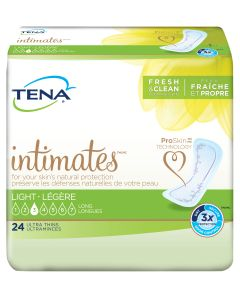 TENA Intimates Ultra Thin Light Long Pads - 10 Inch Pad