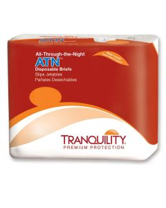 Tranquility ATN All-Thru-The-Night Disposable Brief (Plastic Backed)