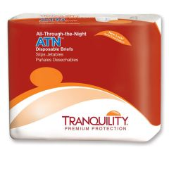 Tranquility ATN All-Thru-The-Night Disposable Adult Diaper Brief for Incontinence